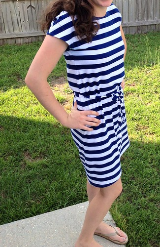 Navy striped Tshirt Dress