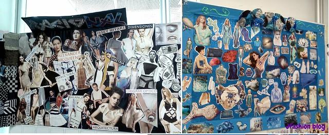 Collage de inspiración en las oficinas de Ela