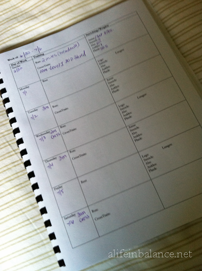 My personalized fitness journal