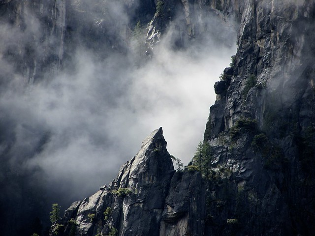 Pointed Rocks in Cathedral Spires, Yosemite