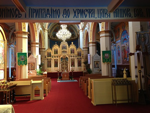 Inside a Ukrainian Orthodox Church, near Chinatown