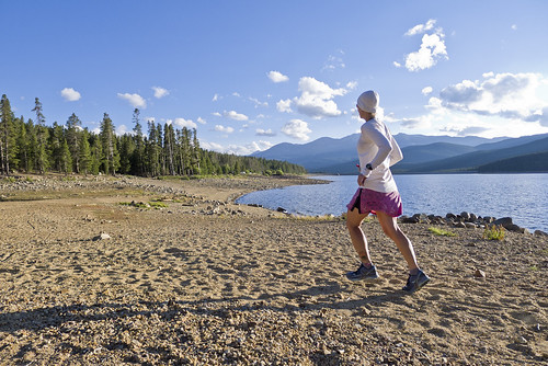 Jogging at Turquoise Lake II by Wayne-K