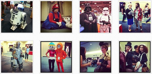 fans in costume at fanexpo