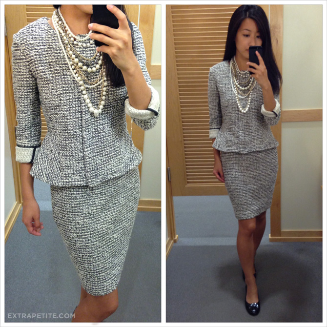 loft tweed skirt and jacket