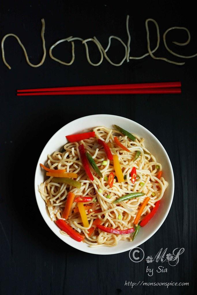 how to make veg hakka noodles at home