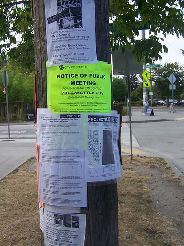 Seattle Planning Department posts development hearing notices in public places