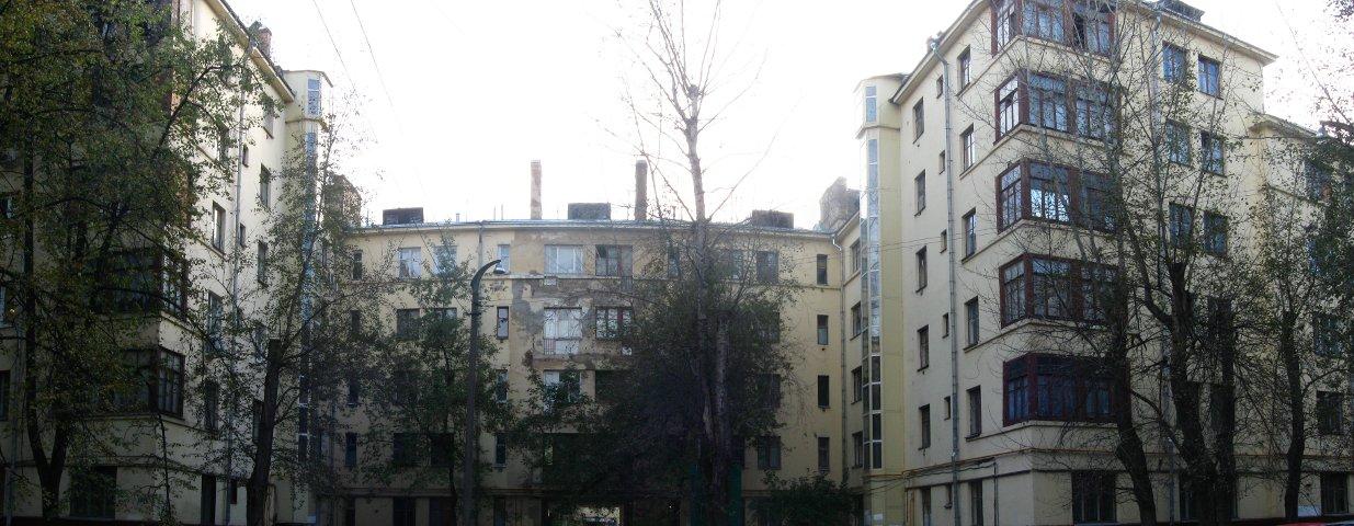 Жилой квартал на Преображенском валу. Панорама