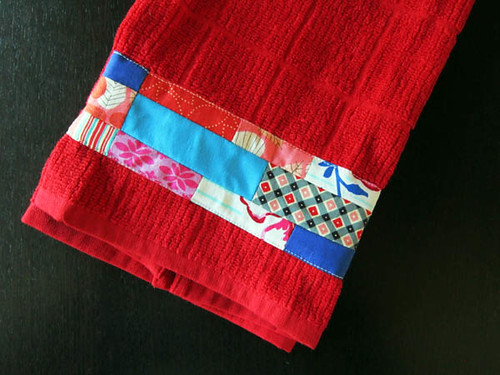 Aria's patchwork towel
