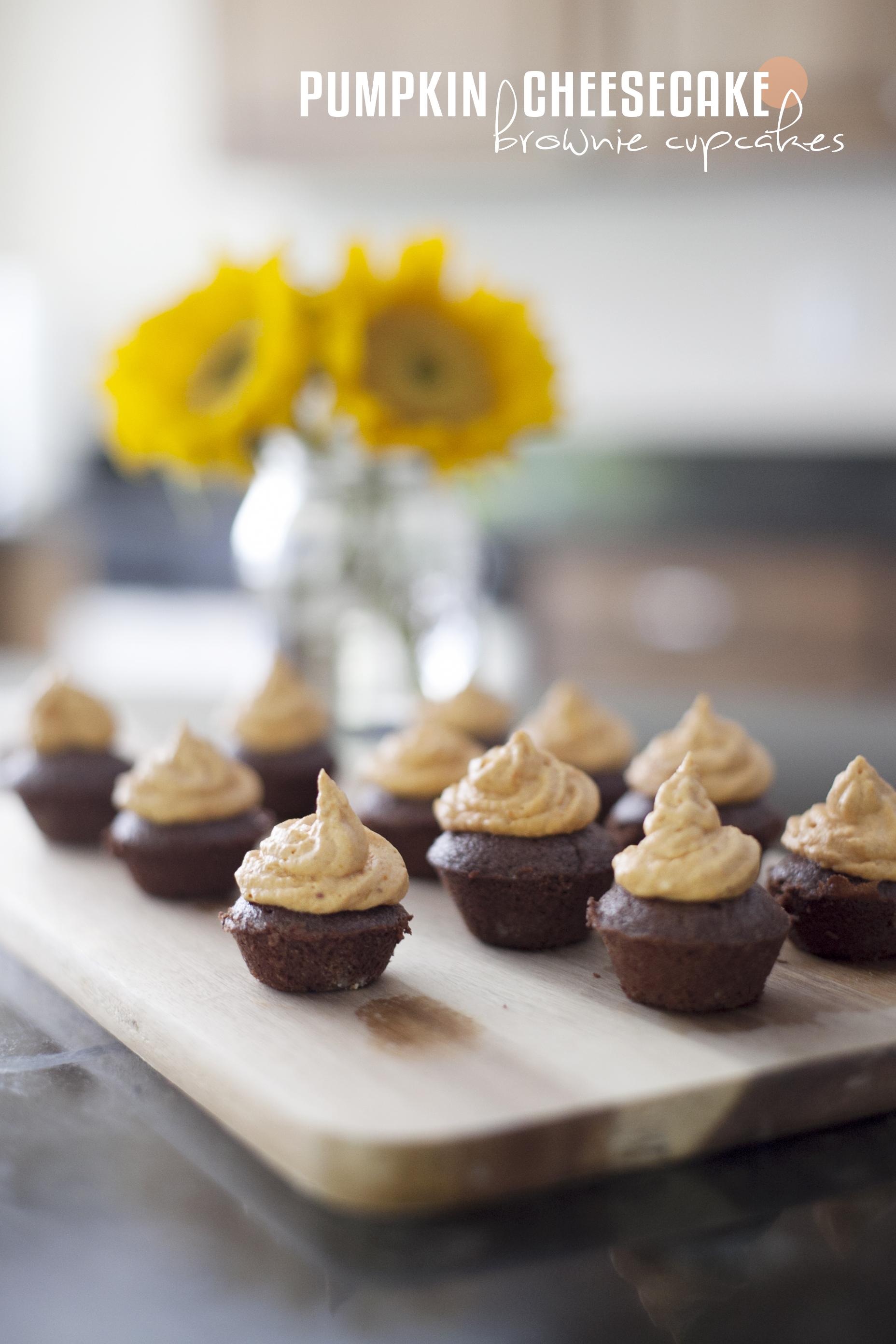 pumpkin cheesecake brownie cupcakes