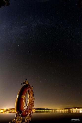 sky stars landscape nightview milkyway hämeenlinna vanajavesi taivas tähdet pelastusrengas yömaisema