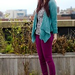 Turquoise Effortless Cardigan