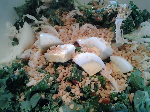 Kale Salad with Peanut Vinaigrette