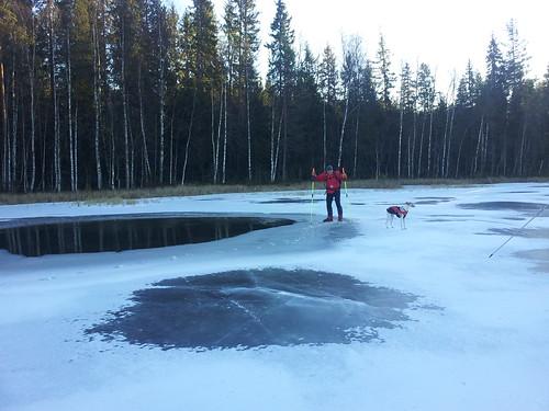 cbiong posted a photo:Fra skøytetur 1.12.2013. Bildet er tatt på Vesle Skillingen 1.12.2013.