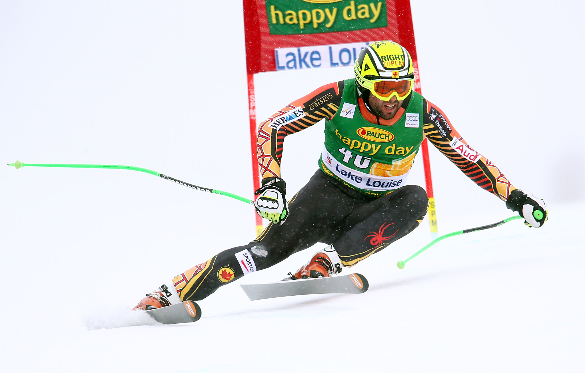 Manny in action during the super-G in Lake Louise, CAN