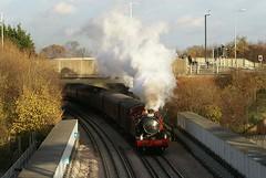 Steam on the Uxbridge Branch, Dec 2013