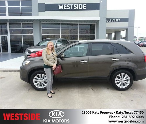 Thank you to Amanda Westerheid on your new 2014 #Kia #Sorento from Rubel Chowdhury and everyone at Westside Kia! #NewCar by Westside KIA