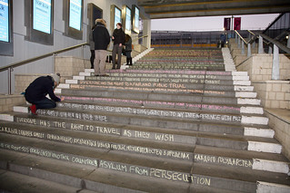 Human Rights Day - chalking of the steps | by University of Essex