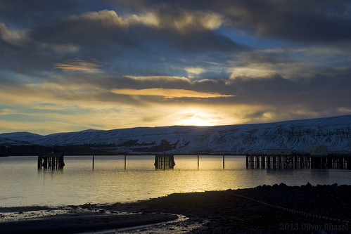 mountain snow beach water sunrise pier iceland fjord oru 2013 hvalfjördur