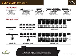 Bulk Grain Transport Capacities Infographic