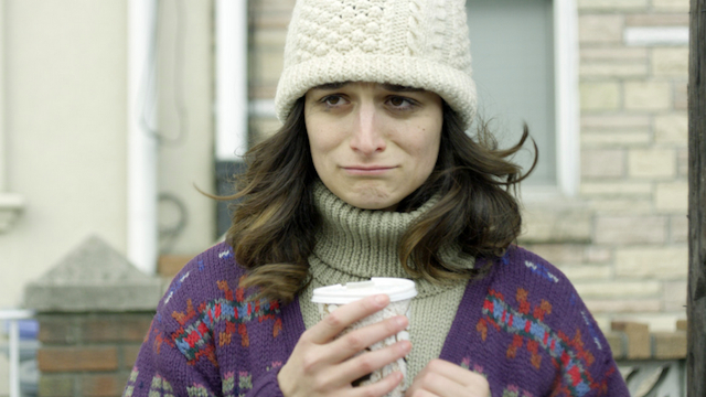 Jenny Slate, making a sad face