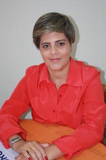 Isa Godoy em reunião na sede do Solidariedade Estadual-SP