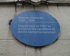 Photo of Thomas Clarkson blue plaque