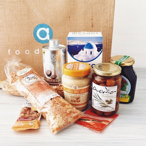 I won the goodie bag yesterday w one of my #AlphaSaturdayLunch pics! Lots of Greek goodies - had no idea @alpharestaurant had a shop next door. #vscocam #vsco