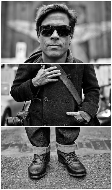 Triptych Portrait series #54 - Daniel Milnor