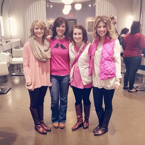 pretty in pink at @blowoutco!  #happyvalentinesday