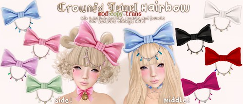 .tsg. Crowned Jewel Hairbow by Eilfie Sugarplum