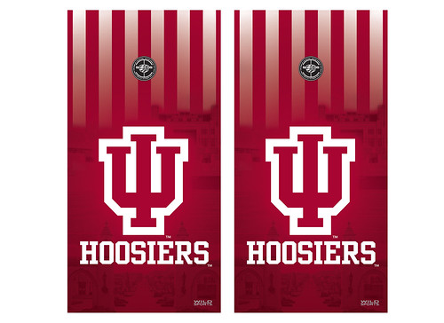 Indiana Cornhole Game Decal Set