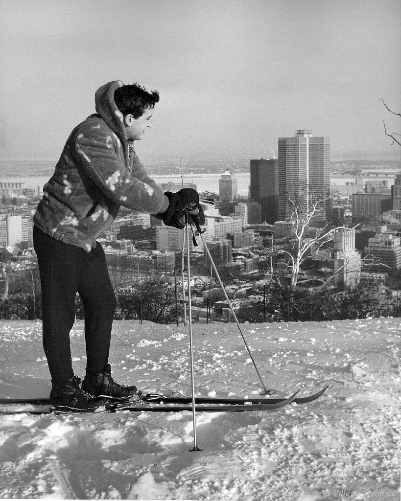 Ski au Mont-Royal, années 1960