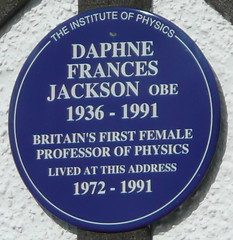 Photo of Daphne Frances Jackson blue plaque