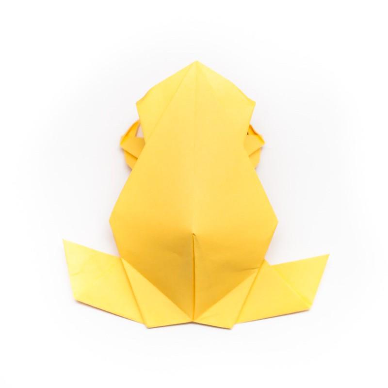 วิธีการพับกระดาษเป็นรูปกบสไตล์โคลับเบี้ยน (Origami Frog) 002