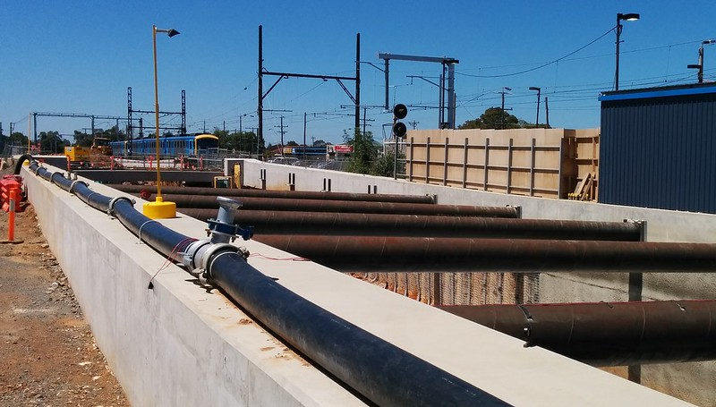 Springvale grade separation under construction