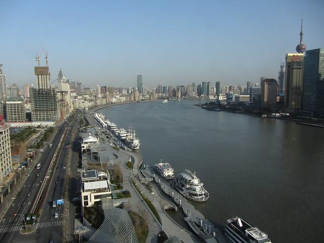 huangpu river, blue sky day