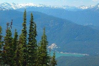 View from Blackcomb/Whistler, BC, July 2010