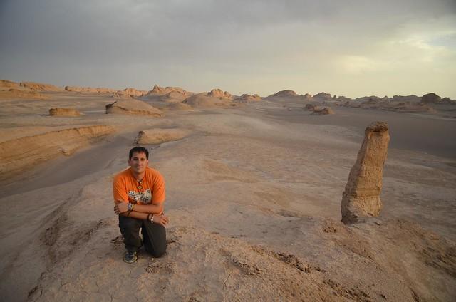 En el Desierto de Lut (Irán), otro de mis desiertos preferidos