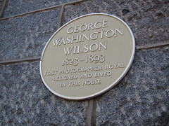 Photo of George Washington Wilson yellow plaque