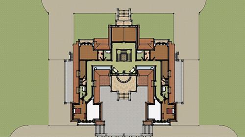 Denah Hotel Arsitektur Klasik Lantai 3
