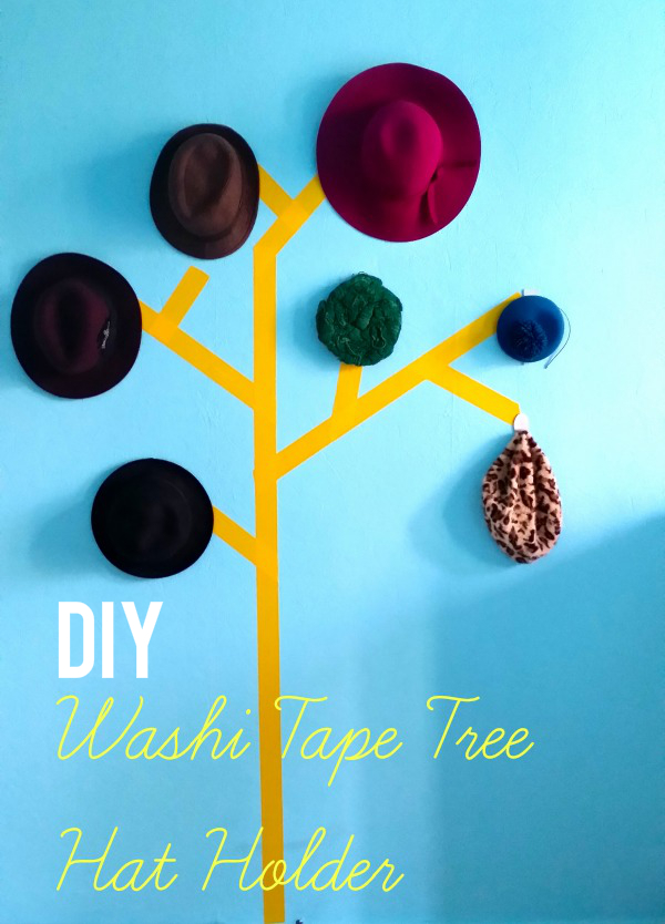 13986636094 6bf251ff63 o DIY Washi Tape Tree Hat Holder