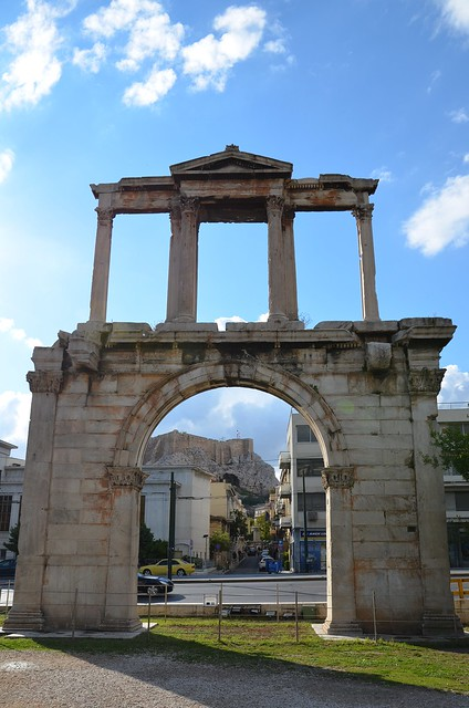 Arch of Hadrian, southeast side (facing the Olympeion), Athens