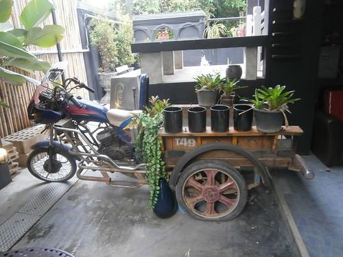Ancient mototbike Tuk Tuk
