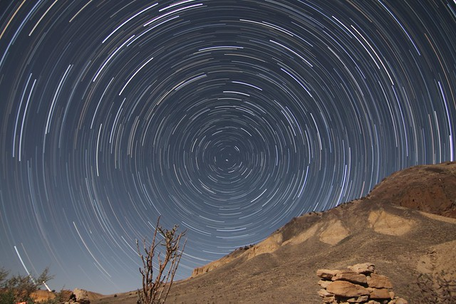 Star Trail in New Mexico
