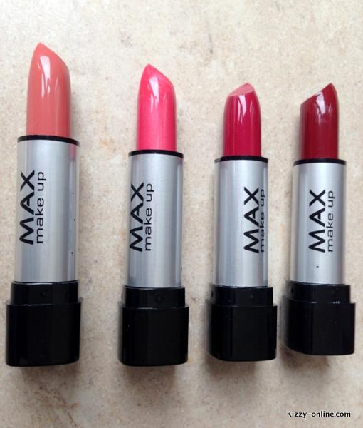 MAX lipsticks Action Swatches Lipstick Budget