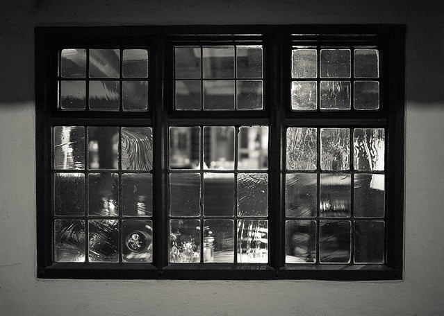 Old glass window