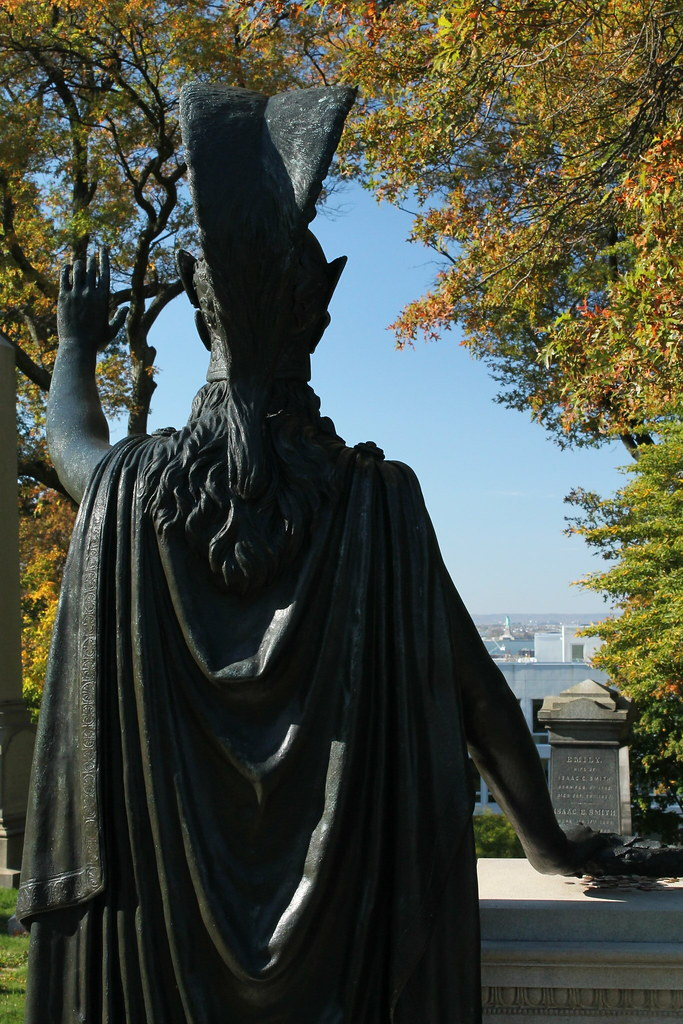 Statue of Minerva, Green-Wood Cemetery, New York