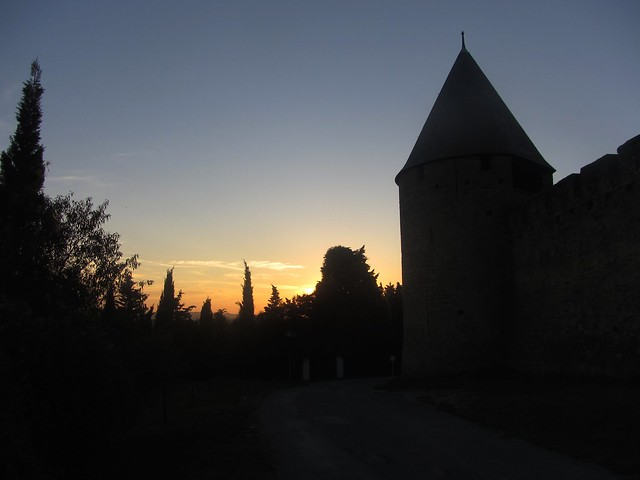 Sunset Towers of Carcassonne