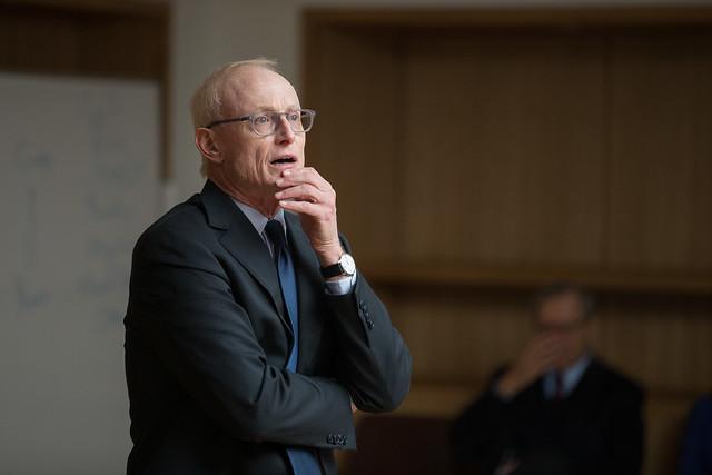 Michael E. Porter presenting at the Social Progress Imperative session, Giving Pledge, Skoll World Forum 2014, Saïd Business School, Oxford - skollwf 2014