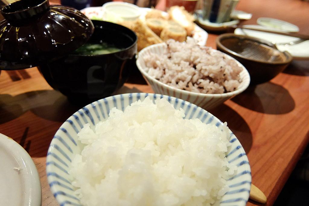 白飯+紫米飯